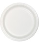 White paper party plates