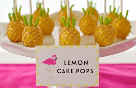 The TomKat Studio's pineapple cake pops