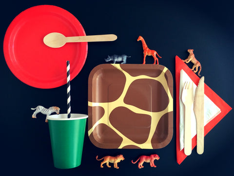 The Safari Party Essentials Kit - coming soon. It has all of your themed items to build a cute and fun birthday!