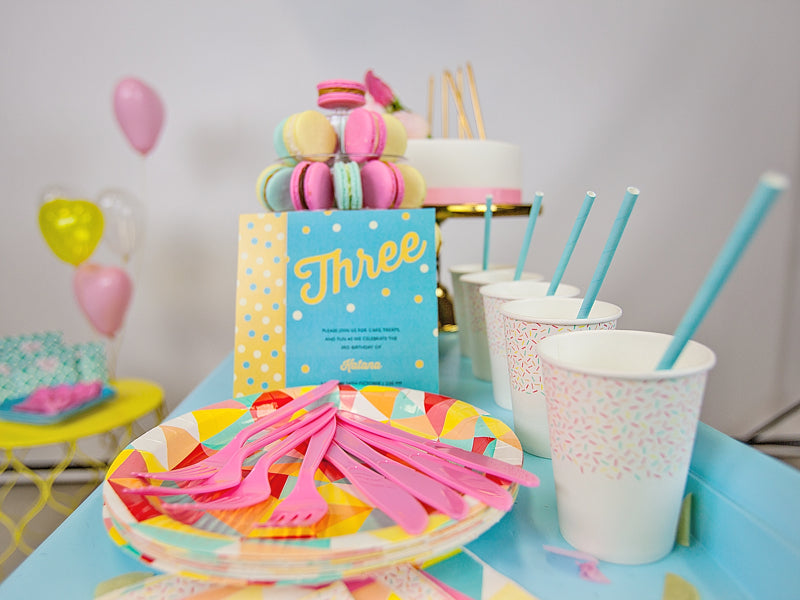 Pastel party theme - Candy Coloured Party Kit