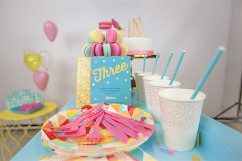 Bright candy party supplies