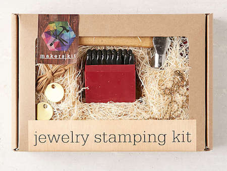 DIY jewellery stamping kit