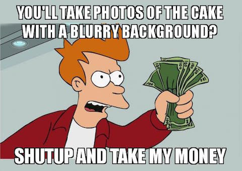 Professional party photographer meme
