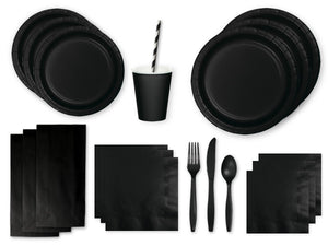 Black party supplies online from Party Kit Company Sydney
