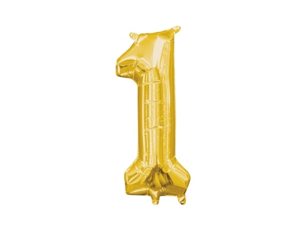 Gold foil number 1 party balloon | Birthday party decorations Sydney
