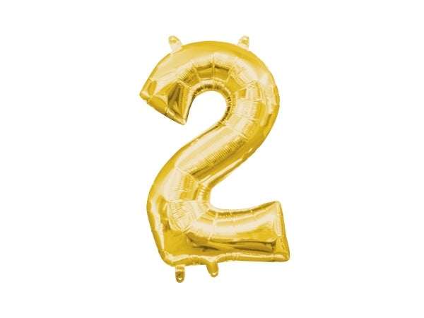 Gold foil 2 number balloons | Awesome 21st birthday party supplies!