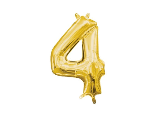Number 4 gold foil balloon | 40th birthday party supplies online Sydney