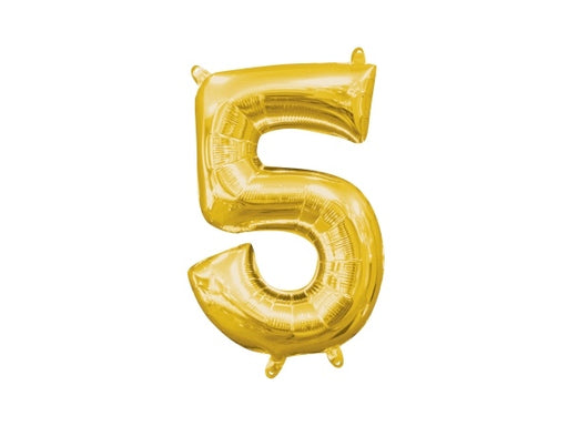 Gold number 5 foil balloon | 50th birthday party supplies online Sydney