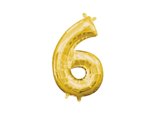 Gold foil number 6 balloon | Birthday party decoration supplies Sydney