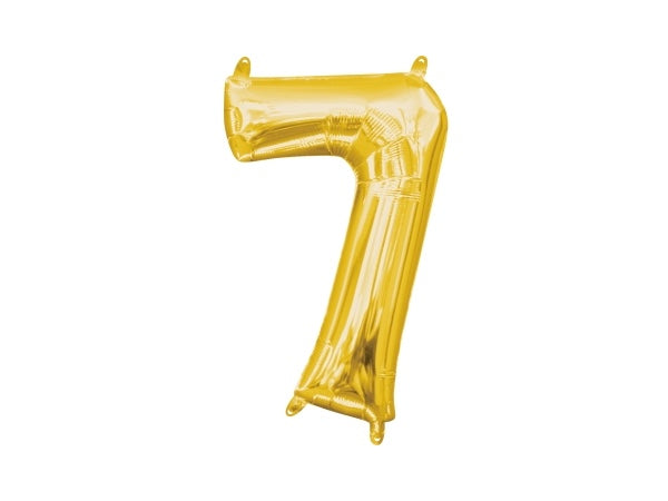 Number 7 gold foil balloon | Birthday party decoration supplies online Australia
