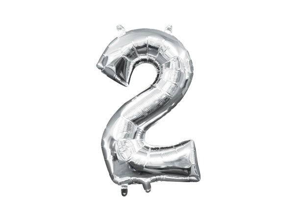 Silver foil 2 number balloons | Awesome 21st birthday party supplies!