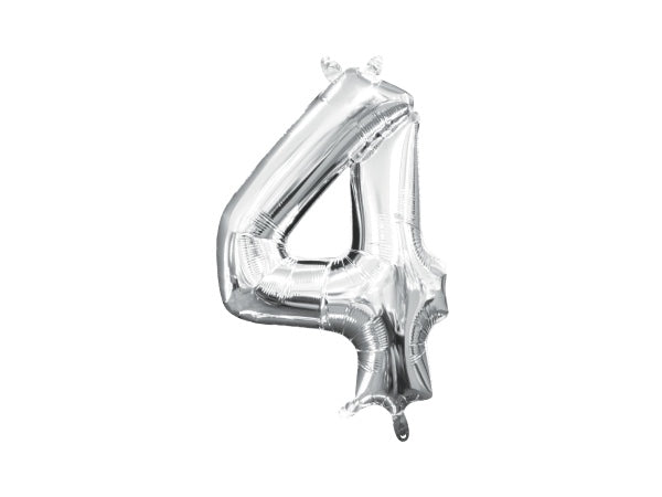 Number 4 silver foil balloon | 40th birthday party supplies online Sydney