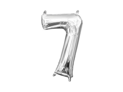 Number 7 silver foil balloon | Birthday party decoration supplies online Australia