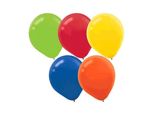 Assorted bright party balloons 15 pack from Party Kit Company online decorations