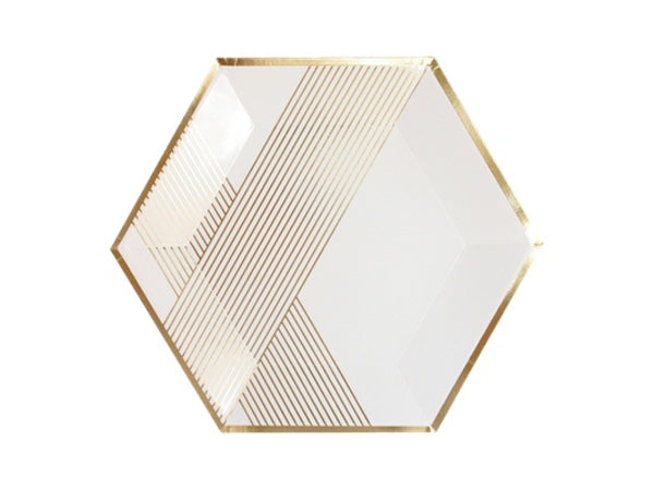 Blanc plates | Boutique white and gold party pack from Party Kit Company online party supplies decorations
