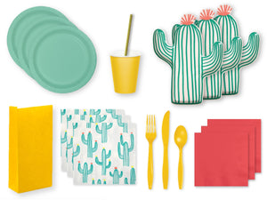 Cactus Fiesta themed party supplies online | Party in a Box from Party Kit Company Sydney