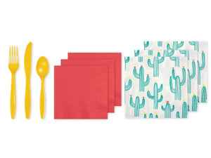 Cactus fiesta party supplies online | Party in a box from Party Kit Company