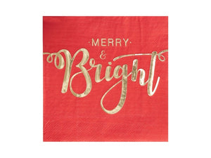 Gold and red Christmas napkins | Christmas party supplies online Australia from Party Kit Company