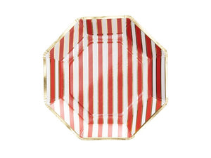 Red, gold and white plates | Christmas party supplies online Australia from Party Kit Company