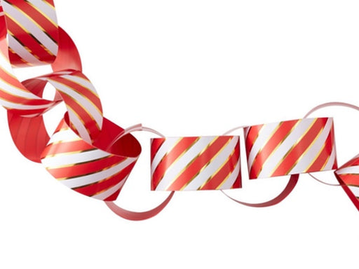 Red and gold paper chain Christmas party decorations online Australia