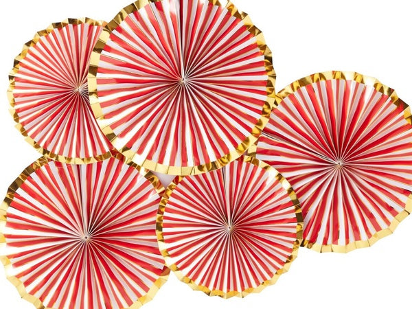 Red and gold candy cane stripe Christmas Decorations online Australia
