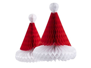 Santa hat honeycomb Christmas decorations from Party Kit Company online Australia
