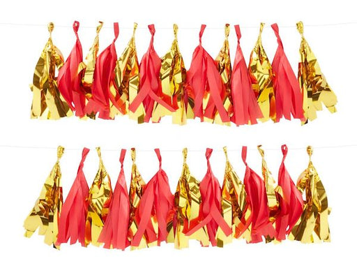 Red and gold tassel DIY Christmas Party Decorations online Australia