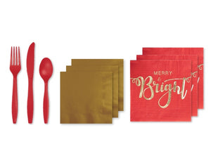 Cutlery and napkins | Christmas party supplies online Australia from Party Kit Company