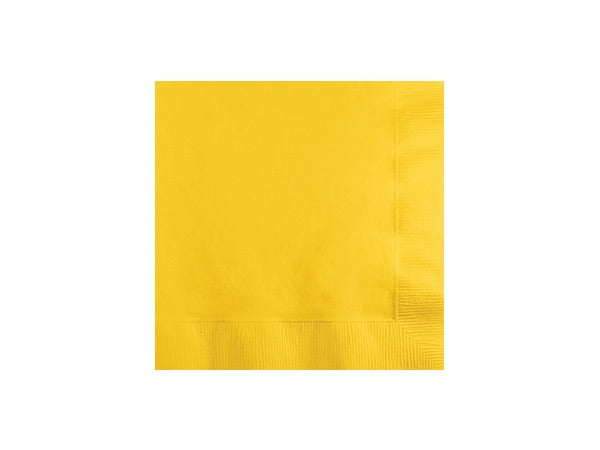 Yellow party napkins | Party Supply packages online Australia