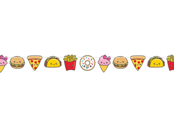 Tasty treats pizza taco party bunting - party decorations online Australia