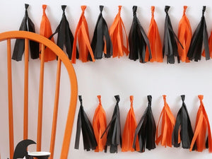 Black and orange tassel garland | Halloween party supplies and decorations Australia