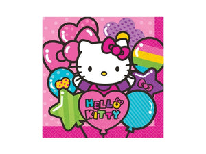 Hello Kitty rainbow party napkins from Party Kit Company online Australia