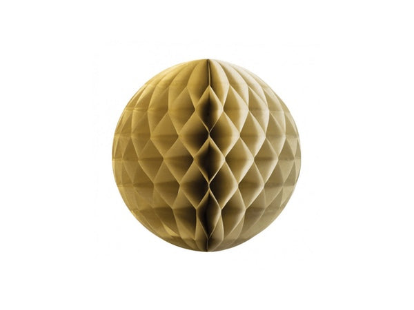 Tissue honeycomb decorations online Australia - 25cm ball - gold