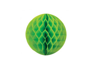 Tissue honeycomb decorations online Australia - 25cm ball - Lime green