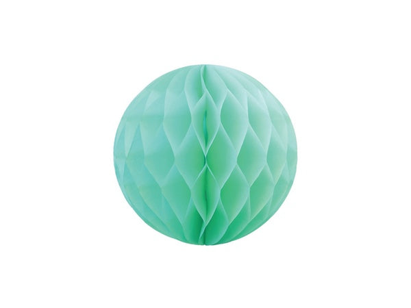 Tissue honeycomb decorations online Australia - 25cm ball - Mint green