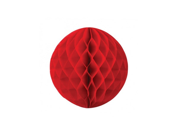Tissue honeycomb decorations online Australia - 25cm ball - apple red