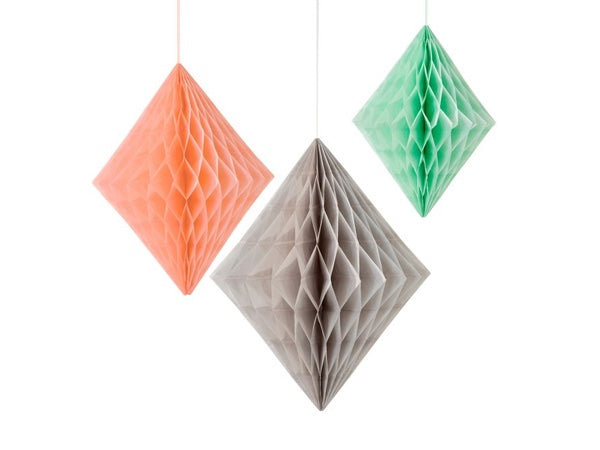 Diamond honeycomb party decorations from Party Kit Company online Australia