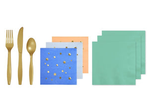 Jazzy Star themed party napkins and cutlery online | Party in a box Australia