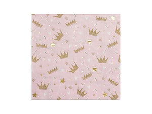 Sweet princess party napkins | Pink Princess birthday party box online Australia