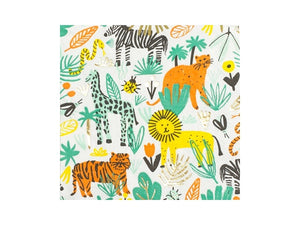 Into the Wild Safari themed lunch napkins from Party Kit Company online Australia