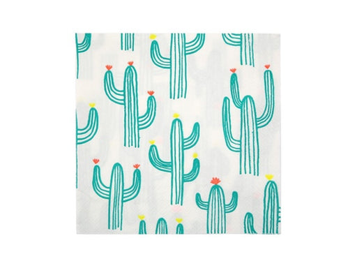 Cactus themed party napkins from Party Kit Company online Australia