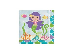 Mermaid themed party napkins online from Party Kit Company Australia