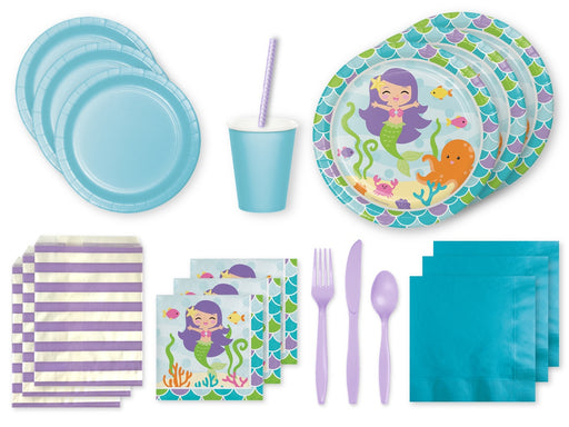 Mermaid themed party pack from Party Kit Company online Australia