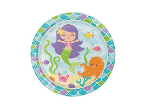 Mermaid party plates online | Party Kit Company supplies Australia