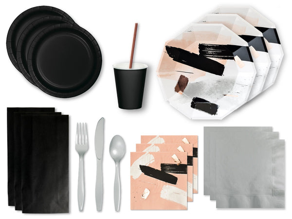 BRUSHSTROKE PARTY KIT