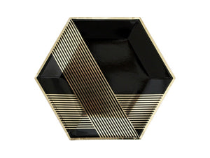 Noir party plates in a box | Black and gold party supplies Afterpay Sydney