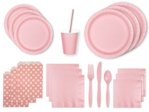 Pastel pink party supplies | Pink party pack online Australia