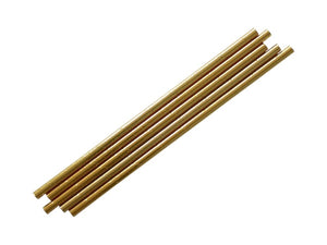 Gold metallic straws | Princess party supplies box online Australia