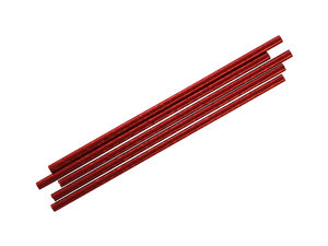 Red foil straws, part of the Magician's party kit online from Party Kit Company