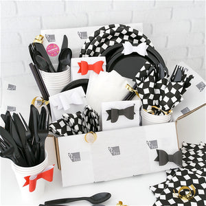 Black and white party pack from Party Kit Company
